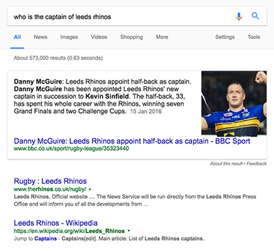 Danny McGuire - Featured Snippets